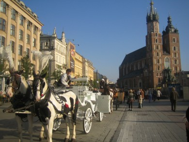 Plaza central de Cracovia